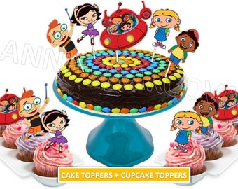Little Einsteins Cake toppers/ Little Einsteins cupcake Toppers/ Little Einsteins Printables/ Instant Download/ You Print 60% OFF