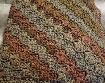"""Beautiful wool blend afghan 60""""×60"""""""