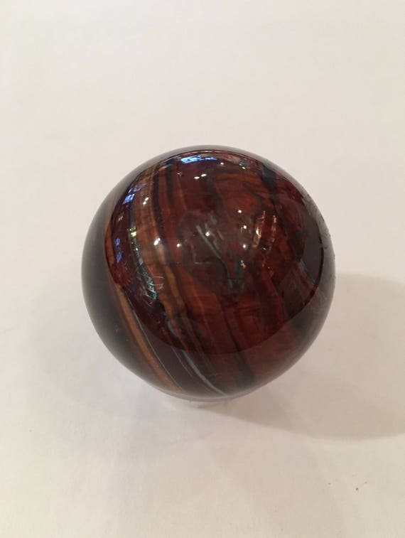 Red TIGER'S EYE Sphere// Crystal SPHERE// Healing Gemstone// Crystal Ball// Home Decor// Healing Tools// Polished Red Tiger's Eye Sphere