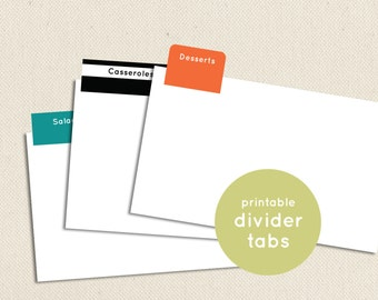 Printable and Editable Divider Tabs