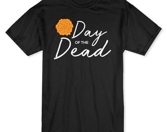 Day Of The Dead Flower Graphic Men's T-shirt