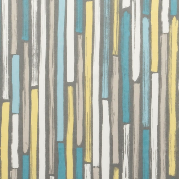 Gypsy Stripe Turquoise Grey Woven Cotton Rug: Modern Turquoise And Grey Upholstery Fabric