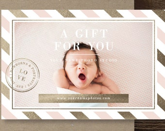 Photography Templates - Photography Gift Card Template - Photography Branding - Photoshop Marketing Templates