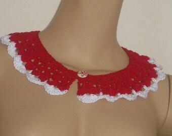 Collar collar - lace - handmade - crochet - crochet collar-