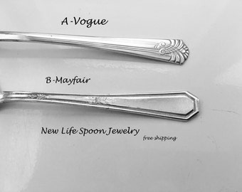 "Spoon Bracelet ""Choose Your Pattern"" Handmade Gift Spoon Jewelry Vintage Jewelry Fork Bracelet Spoon Ring Silverware Bracelet Gift - 66"