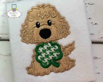 Boy Dog with Shamrock St Patricks Day Shirt or Bodysuit, St Patricks Day Shirt, St Patty's Day Shirt, Boy St Patricks Day, Dog with Shamrock