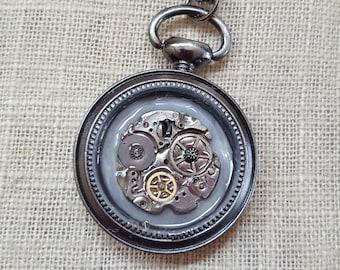 Steampunk Jewelry, Steampunk Pendant, Watch Gear Jewelry, Jewelry, Necklaces, Pendants, Pocket Watch Pendant, Steampunk Mickey Mouse Pendant