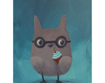Cupcake Thief. print of an original acrylic painting