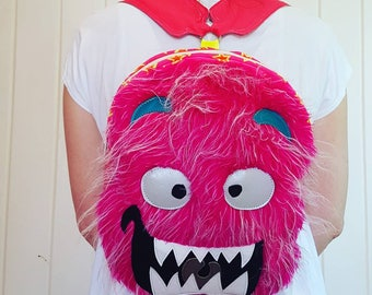 Friendly Pink Monster backpack