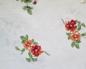 Orange Floral Fabric