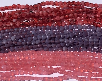 Heart Beads, 6/6MM, Czech Hurricane Glass, You pick your color,50PC
