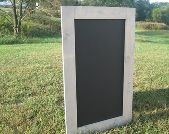 Rustic chalkboard, driftwood stained chalk board framed chalkboard farmhouse