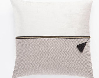 Color Block Pillow- Taupe