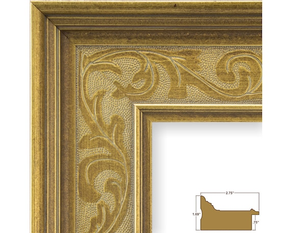 Craig Frames, 24x36 Inch French Country Style Gold Picture Frame ...