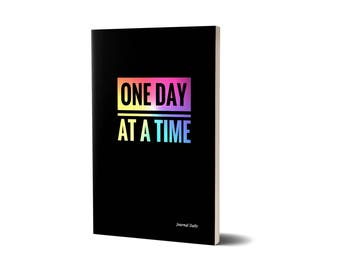 Journal Daily, One Day At A Time, Lined Journal, 47A1541334086