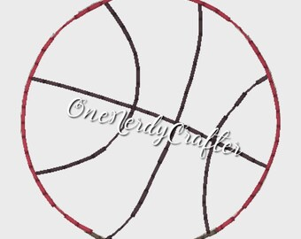 Basketball Flasher Feltie Embroidery Digital Design File
