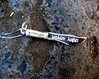 925 Silver dagger pendant