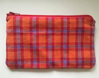 Reusable Snack Bag, Kid Snack Bag, plaid picnic