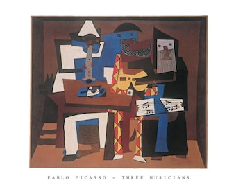 Pablo Picasso The Three Musicians 22 x 28 poster print