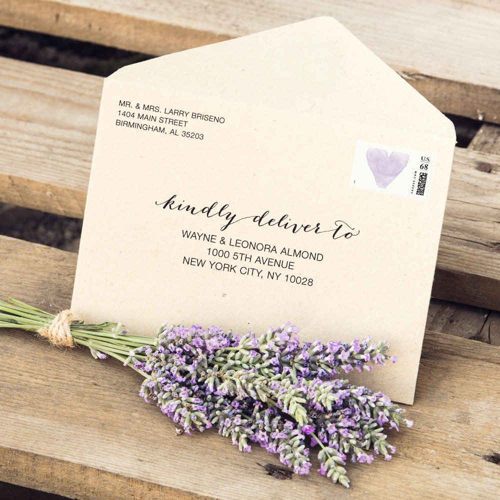 Wedding Envelope Templates Fit 3.5x5 Cards Editable