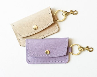 Navy leather keychain wallet keychain credit card wallet id lavender keychain wallet monogrammed keychain credit card wallet tan id wallet business card colourmoves