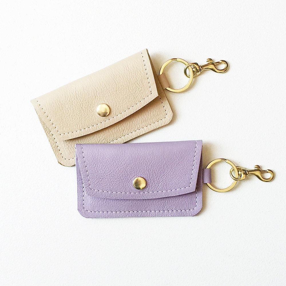 Lavender Keychain Wallet Monogrammed Keychain Credit Card