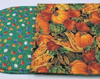 Christmas Quilt / Table Runner - Reversible, Handmade,  49 in. x 14 in.