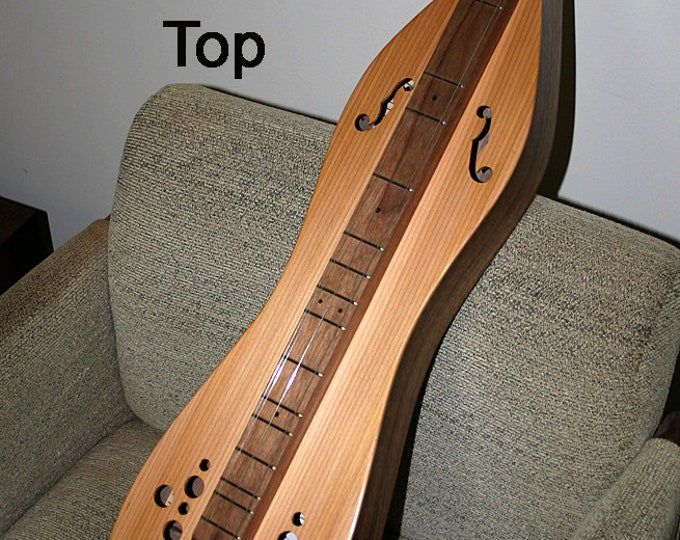 Western Cedar Mountain Dulcimer, 4-string Hour-glass, with Custom Case and Optional Electric and Fretboard
