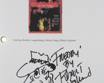 Nightmare On Elm Street Signed Movie Film Script Screenplay Robert Englund Artwork signature one of the best horror films ever classic