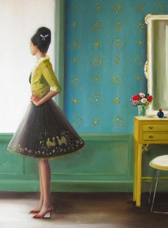 The Magic Of Miss Evans. Art Print.