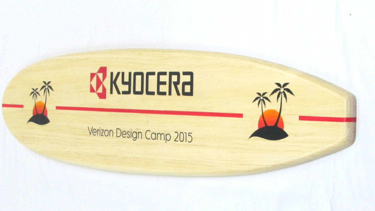 Custom Design Wooden Surfboard Trophies Corporate Gifts