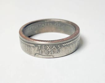 Texas - Coin Ring - Coin Jewelry - Quarter Ring - Gift - State Wedding Ring - Husband - Wife - State Quarter Ring - Anniversary Gift