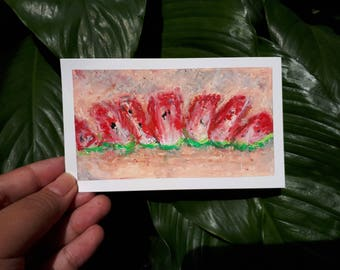 Pastel Painting on a card