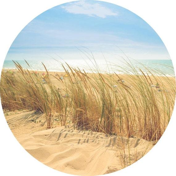 Gift for Her Beach Grass Scenery Circle Wall Decor Beach