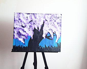 Tree painting, tree picture, treee art, tree artwork, blooming tree design