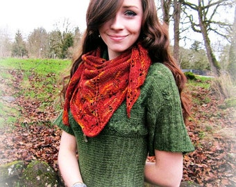 Ablaze Lacy Knitted Shawl