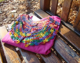 Crocheted multi colored collar