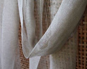 "Organic linen scarf ""Aster"", summer scarf, natural scarf, ecofriendly accessory, ecofriendly scarf, organic scarf, linen scarf"