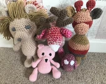 Hand Made Crochet Animals