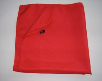 Vintage Red Silk Scarf Made in England
