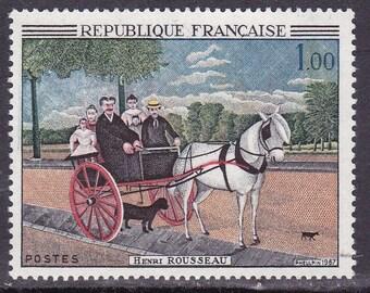 Frankreich 1966 kompletter Satz von vier Vintage Kunst/Gemälde-Briefmarken als Herausgeber.  Ein schöner Artikel