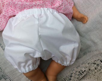 clothing, doll 42 cm white cotton bloomers