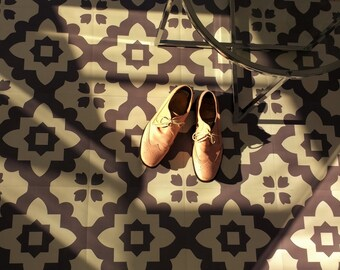 SAMPLE. Casablanca Grey Vinyl Floor Tiles