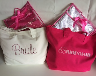 Bridal Tote with sparkling Arabella or Sweetheart design diamantes.