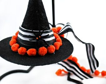 Holiday Ornament - Witch Hat - Itsy Bitsy Spider- Christmas Ornaments - Gifts under 15