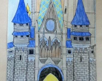 Cinderella's Castle Disneyworld (Drawing)