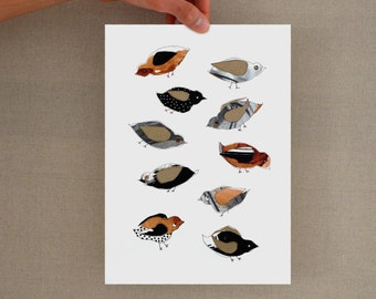 Minimal birds, birds print, bird prints, modern birds print, art prints, prints wall art, glicee print, modern birds art print, minimal bird