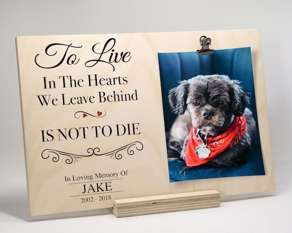 Pet Loss Pet Memory Pet Memorial Sympathy Gift Pet Frame Dog