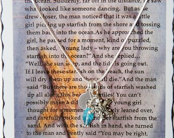 The Starfish Story, Encouragement, Make A Difference, Starfish Necklace