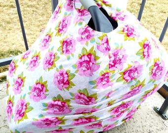 Stretchy Carseat Canopy Floral Cover car seat canopy car seat cover nursing cover